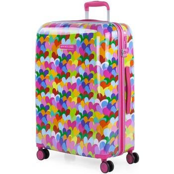 Táskák Női Keményfedeles bőröndök Agatha Ruiz de la Prada Hearts színek kapacitása 60 L Fukszia