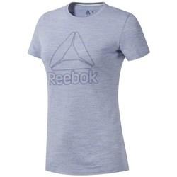 Ruhák Női Rövid ujjú pólók Reebok Sport TE Marble Logo Tee Szürke