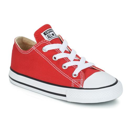 Cipők Gyerek Rövid szárú edzőcipők Converse CHUCK TAYLOR ALL STAR CORE OX  Piros 3615b11d5a
