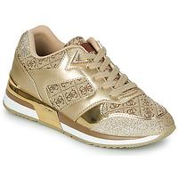 Cipők Női Rövid szárú edzőcipők Guess MOTIV Arany