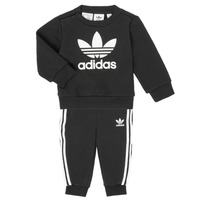 Ruhák Gyerek Együttes adidas Originals CREW SET Fekete