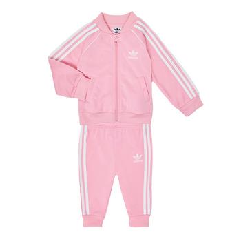 Ruhák Lány Együttes adidas Originals SST TRACKSUIT Rózsaszín