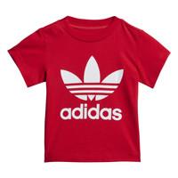 Ruhák Gyerek Rövid ujjú pólók adidas Originals TREFOIL TEE Piros