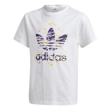 Ruhák Lány Rövid ujjú pólók adidas Originals TREF TEE Fehér