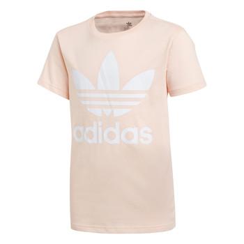 Ruhák Lány Rövid ujjú pólók adidas Originals TREFOIL TEE Rózsaszín