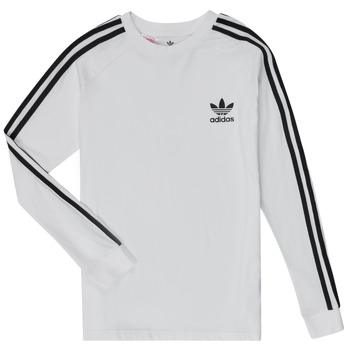 Ruhák Gyerek Hosszú ujjú pólók adidas Originals 3STRIPES LS Fehér