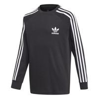Ruhák Fiú Hosszú ujjú pólók adidas Originals 3STRIPES LS Fekete