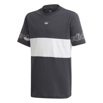 Ruhák Fiú Rövid ujjú pólók adidas Originals PANEL TEE Szürke / Fehér