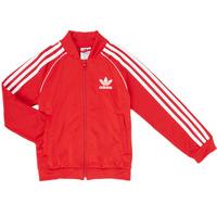 Ruhák Fiú Melegítő kabátok adidas Originals SST TRACKTOP Piros