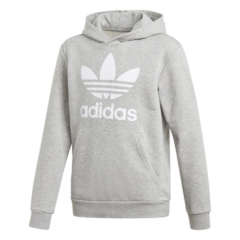 Ruhák Gyerek Pulóverek adidas Originals TREFOIL HOODIE Szürke