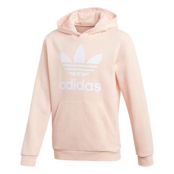 Ruhák Lány Pulóverek adidas Originals TREFOIL HOODIE Rózsaszín