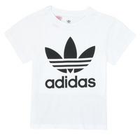 Ruhák Gyerek Rövid ujjú pólók adidas Originals TREFOIL TEE Fehér