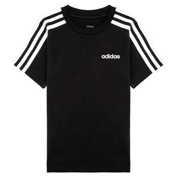Ruhák Fiú Rövid ujjú pólók adidas Performance YB E 3S TEE Fekete