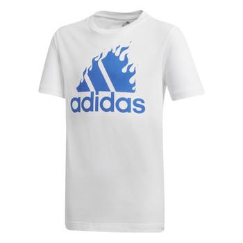 Ruhák Fiú Rövid ujjú pólók adidas Performance JB BOS GRAPH Fehér