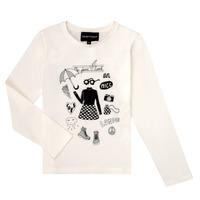 Ruhák Lány Hosszú ujjú pólók Emporio Armani 6H3T01-3J2IZ-0101 Fehér