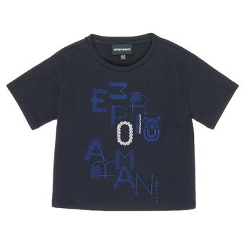 Ruhák Lány Rövid ujjú pólók Emporio Armani 6H3T7R-2J4CZ-0926 Tengerész