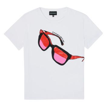 Ruhák Lány Rövid ujjú pólók Emporio Armani 6H3T7T-3J2IZ-0100 Fehér