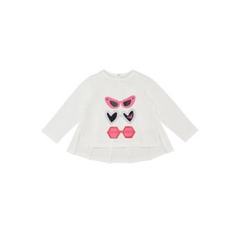 Ruhák Lány Hosszú ujjú pólók Emporio Armani 6HEM01-3J2IZ-0101 Fehér