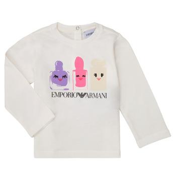 Ruhák Lány Hosszú ujjú pólók Emporio Armani 6HET02-3J2IZ-0101 Fehér