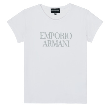 Ruhák Lány Rövid ujjú pólók Emporio Armani 8N3T03-3J08Z-0100 Fehér