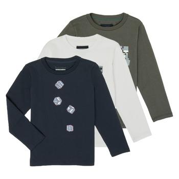 Ruhák Fiú Hosszú ujjú pólók Emporio Armani 6H4D01-4J09Z-0564 Sokszínű