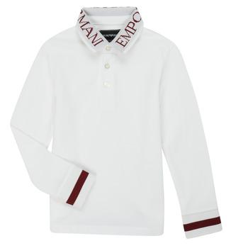Ruhák Fiú Hosszú ujjú galléros pólók Emporio Armani 6H4FJ4-1J0SZ-0101 Fehér