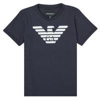 Ruhák Fiú Rövid ujjú pólók Emporio Armani 8N4T99-1JNQZ-0939 Tengerész