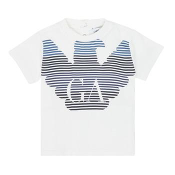 Ruhák Fiú Rövid ujjú pólók Emporio Armani 6HHTQ7-1J00Z-0101 Fehér