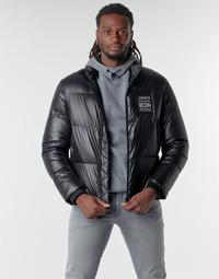 Ruhák Férfi Steppelt kabátok Armani Exchange 8NZBP2 Fekete