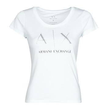 Ruhák Női Rövid ujjú pólók Armani Exchange 8NYT83 Fehér