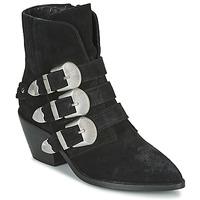 Cipők Női Csizmák Pepe jeans WESTERN W BUCKLE Fekete