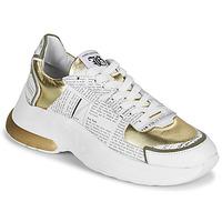 Cipők Női Rövid szárú edzőcipők John Galliano 3646 Fehér / Arany