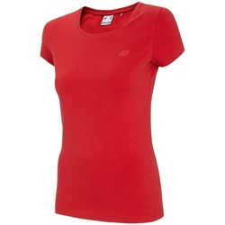 Ruhák Női Rövid ujjú pólók 4F TSD001 Piros