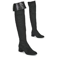 Cipők Női Combcsizmák Unisa LUKAS Fekete