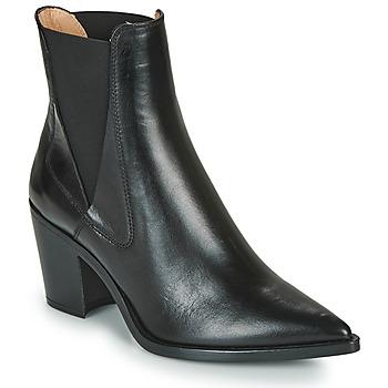 Cipők Női Bokacsizmák Unisa MUNIS Fekete