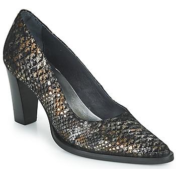 Cipők Női Félcipők Myma KOLA Fekete  / Arany