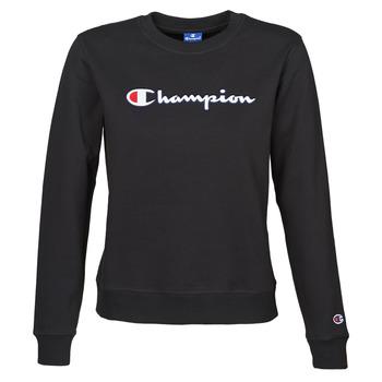Ruhák Női Pulóverek Champion HEAVY COMBED COTTON FLEECE Fekete