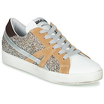 Cipők Női Rövid szárú edzőcipők Meline IN1344 Fehér / Bézs / Arany