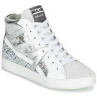 Cipők Női Magas szárú edzőcipők Meline IN1363 Fehér / Ezüst