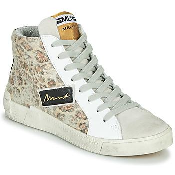 Cipők Női Magas szárú edzőcipők Meline NK5050 Bézs / Leopárd