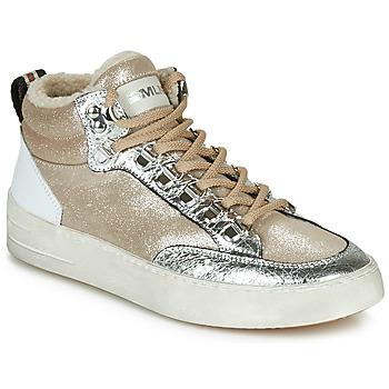 Cipők Női Magas szárú edzőcipők Meline STRA5056 Bézs / Arany