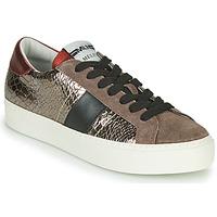 Cipők Női Rövid szárú edzőcipők Meline PL1810 Bronz / Piros