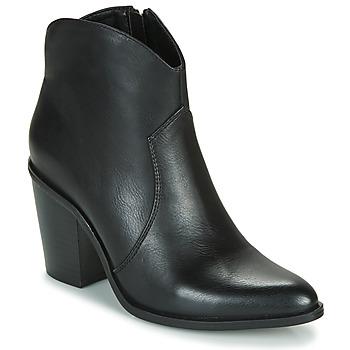 Cipők Női Bokacsizmák MTNG 50187-C50074 Fekete