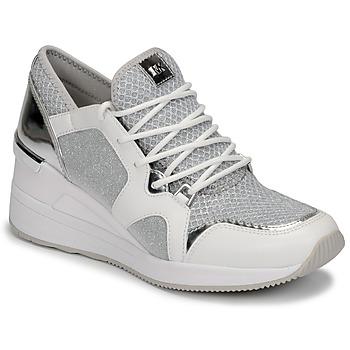 Cipők Női Rövid szárú edzőcipők MICHAEL Michael Kors LIV TRAINER Fehér / Ezüst