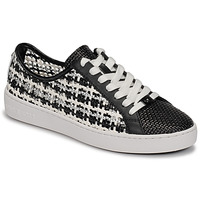 Cipők Női Rövid szárú edzőcipők MICHAEL Michael Kors OLIVIA LACE UP Fekete  / Fehér