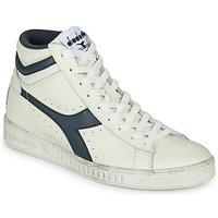 Cipők Magas szárú edzőcipők Diadora GAME L HIGH WAXED Fehér / Kék