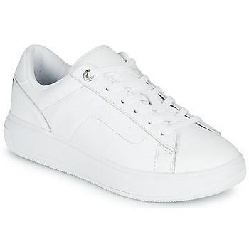Cipők Női Rövid szárú edzőcipők Tommy Hilfiger LEATHER TOMMY HILFIGER CUPSOLE Fehér