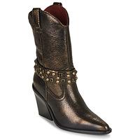 Cipők Női Bokacsizmák Bronx NEW KOLE Fekete  / Arany