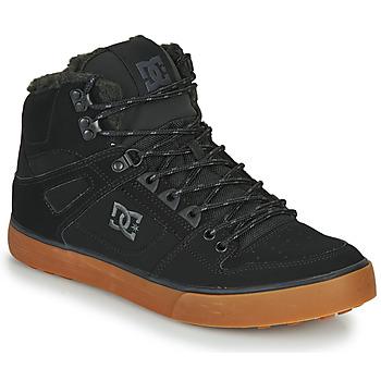 Cipők Férfi Magas szárú edzőcipők DC Shoes PURE HT WC WNT M Fekete
