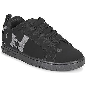 Cipők Férfi Deszkás cipők DC Shoes COURT GRAFFIK Fekete  / Szürke